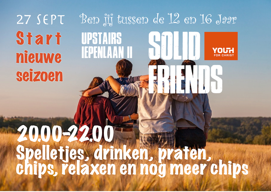 Uitnodiging Solid Friends 2019 2020